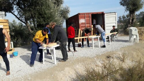 Lesvos Architecture of Care Workshop with Global Free Unit