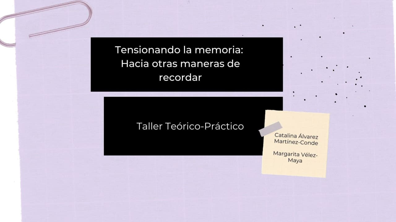 """Read more about the article """"Tensioning the memory: Towards other ways of remembering"""" Workshop, May 28th"""