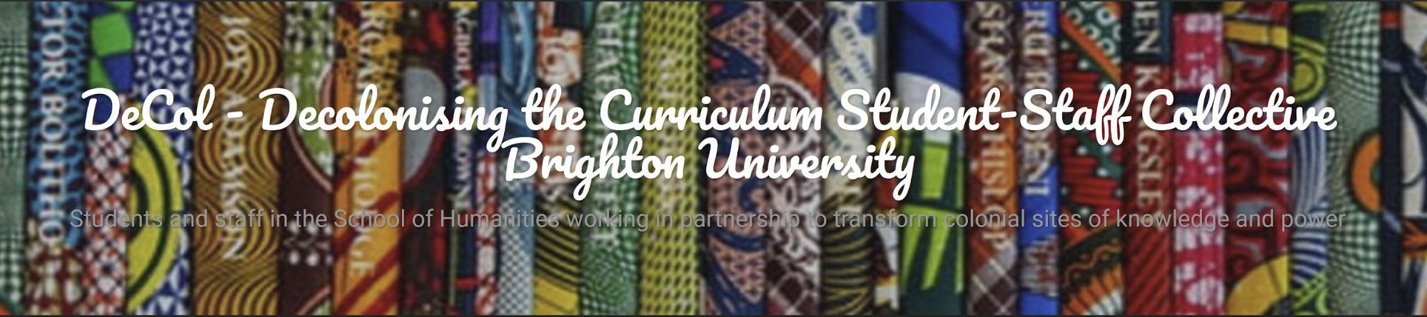 "Presentation of the BRIDGES Project at ""Decolonising the Curriculum Seminar Series"", in the University of Brighton"